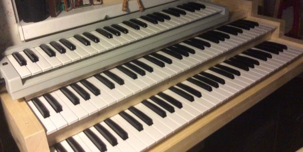 Organ console with Behringer Keyboards