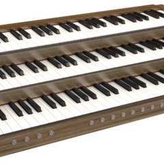 MIDI organ console render